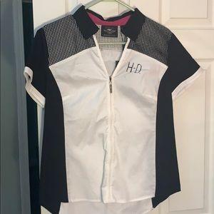 Harley zip up shirt